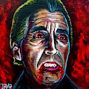 Dracula Lee  Art Print