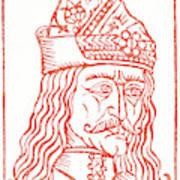Dracula Or Vlad Tepes, 1491 Woodcut Art Print