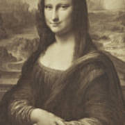 Drawing Of The Mona Lisa By Millet 1854-55 Albumen Silver Print Art Print