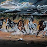 Dream Horse Series 125 - Flat Bottom River Wild Horse Herd Art Print