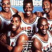 Dream Team, 1992 Barcelona Olympic Games Preview Sports Illustrated Cover Art Print