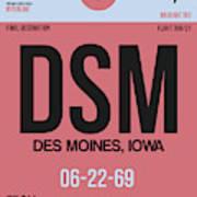 Dsm Des Moines Luggage Tag I Art Print