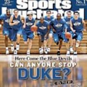 Duke University Basketball Team Sports Illustrated Cover Art Print