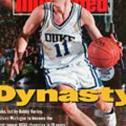 Duke University Bobby Hurley, 1992 Ncaa National Sports Illustrated Cover Art Print