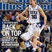 Duke University Jon Scheyer, 2010 Ncaa National Championship Sports Illustrated Cover Art Print