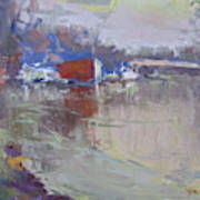 Dusk At Tonawanda Canal Art Print