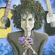 Dusky Resolution - Bob Dylan Art Print