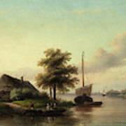 Dutch River Landscape Art Print