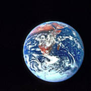 Earth From Outer Space Art Print