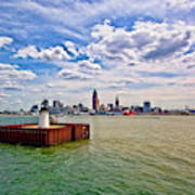 East Pierhead Lighthouse View Of Cleveland Art Print