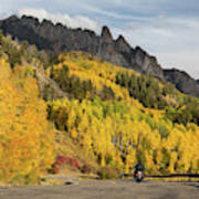 Easy Autumn Rider Art Print