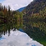 Echo Lake Early Autumn Reflection Art Print