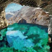 Eden's cave Art Print