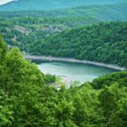 Edersee Lake Surrounded With Forest Art Print