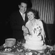 Edith Piaf Cuts Wedding Cake Art Print