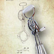 Eggbeater With Antique Eggbeater Patent Art Print