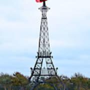 Eiffel Tower In Paris Texas Art Print