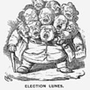 Election Lunes, 1865. Artist Charles Art Print
