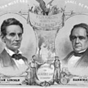 Election Poster With Abraham Lincoln Art Print