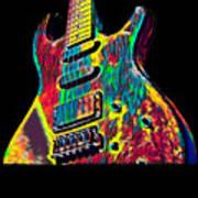 Electric Guitar Musician Player Metal Rock Music Lead Art Print