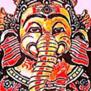 Elephant Face Art Print