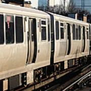 Elevated Train Descends Into Subway Art Print