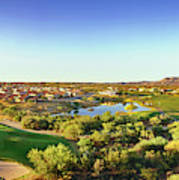Elevated View Of Golf Course, Sun City Art Print