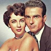Elizabeth Taylor And Montgomery Clift, Hollywood Legends Art Print