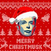Elon Musk Merry Christmusk Art Print