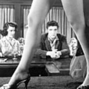 Elvis Presley Framed Between Womans Legs Art Print