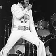 Elvis Presley On Stage During His 1972 Art Print