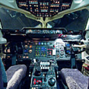 Empty Aeroplane Cockpit Art Print