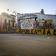 Empty Soccer Field In La Boca Art Print