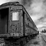 End Of The Line Bw Art Print