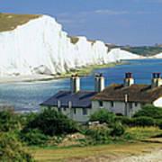 England, Sussex, Seven Sisters Cliffs Art Print