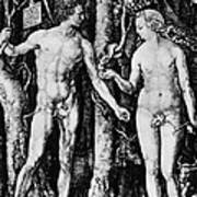 Engraving Of Adam And Eve Art Print