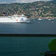 Enjoying The French Riviera View Art Print