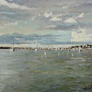 Entering Sunset Marina Art Print