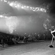 Entertainer Dean Martin On Stage Art Print
