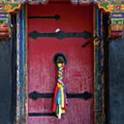 Entrance To The Tibetan Monastery Art Print