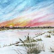 Ephemeral Sunset Art Print