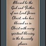 Ephesians 1 3 Art Print