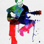 Eric Clapton Watercolor Art Print