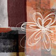 Espresso Flower 1-  Art By Linda Woods Art Print