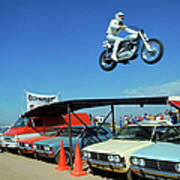 Evel Knievel In Flight Art Print