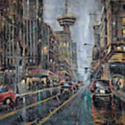 Evening Traffic II Art Print