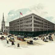 Exterior Of A T Stewart Department Store Art Print