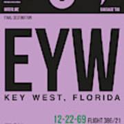 Eyw Key West Luggage Tag I Art Print
