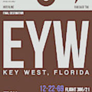 Eyw Key West Luggage Tag II Art Print