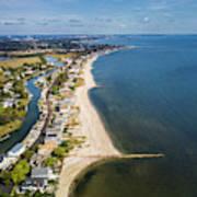Fairfield Beach Connecticut Aerial Art Print